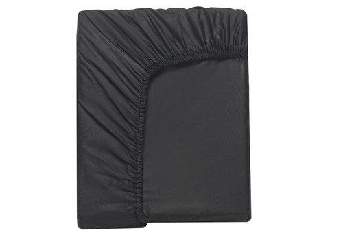 Простынь на резинке Karna LOFT хлопковый сатин чёрный 160х240+30, фото, фотография