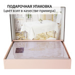 Скатерть прямоугольная с салфетками Karna VIP COTTON жаккард кремовый 160х220, фото, фотография
