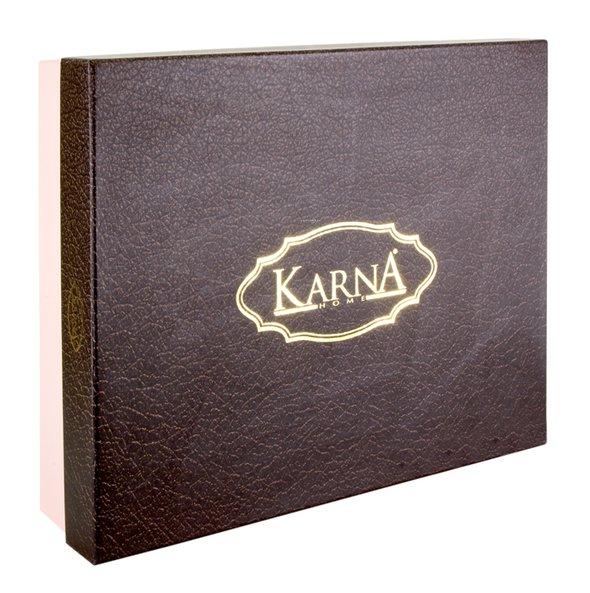 Скатерть прямоугольная с салфетками Karna VIP COTTON жаккард кремовый 160*220, фото, фотография