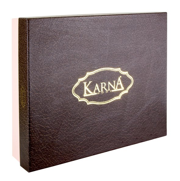 Скатерть прямоугольная с салфетками Karna VIP COTTON жаккард кофейный 160х300, фото, фотография
