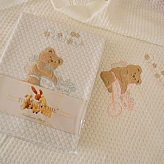 Плед детский для новорожденных Tivolyo Home POURTOL хлопок (розовый)