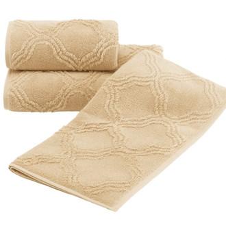 Набор полотенец для ванной 2 пр. Soft Cotton HYPNOS хлопковая махра (горчичный)