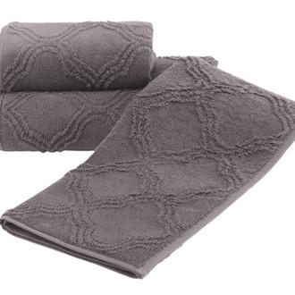 Набор полотенец для ванной 2 пр. Soft Cotton HYPNOS хлопковая махра (кофейный)