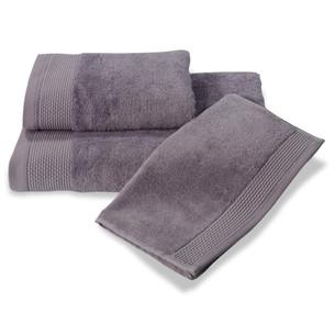 Полотенце для ванной Soft Cotton BAMBU хлопковая/бамбуковая махра фиолетовый 50х100