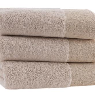 Полотенце для ванной Soft Cotton HAZEL хлопковая махра светло-бежевый