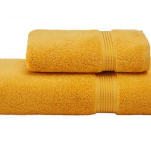 Полотенце для ванной Soft Cotton LANE хлопковая махра жёлтый 75х150