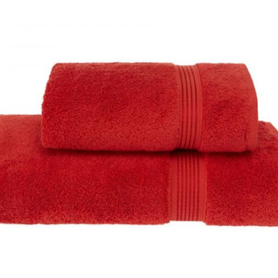 Полотенце для ванной Soft Cotton LANE хлопковая махра красный 50х100