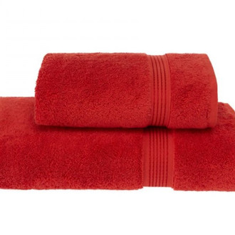 Полотенце для ванной Soft Cotton LANE хлопковая махра красный