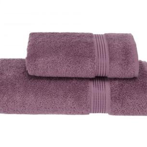 Полотенце для ванной Soft Cotton LANE хлопковая махра лиловый 50х100