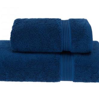 Полотенце для ванной Soft Cotton LANE хлопковая махра (тёмно-голубой)