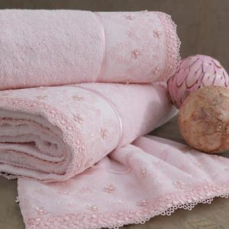 Полотенце для ванной Soft Cotton SELEN хлопковая махра розовый