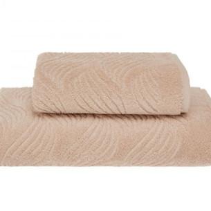 Полотенце для ванной Soft Cotton WAVE хлопковая махра светло-бежевый 50х100