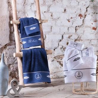 Полотенце для ванной Tivolyo Home ANCORA хлопковая махра синий