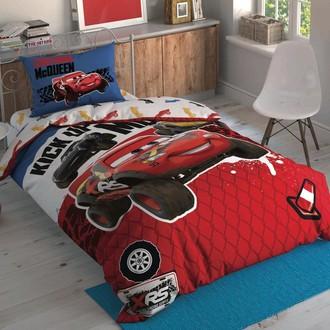 Комплект детского постельного белья TAC CARS ADVENTURE хлопковый ранфорс