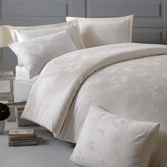 Комплект постельного белья Issimo Home BELUGA хлопковый сатин-жаккард делюкс экрю