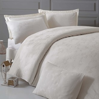 Комплект постельного белья Issimo Home ELSA хлопковый сатин-жаккард делюкс экрю