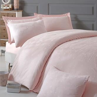 Комплект постельного белья Issimo Home ELSA хлопковый сатин-жаккард делюкс розовый