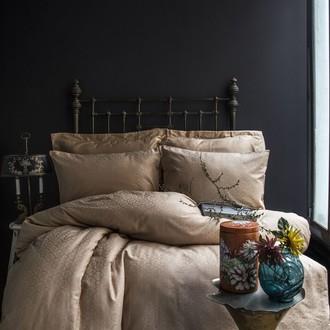 Комплект постельного белья Issimo Home MONTE хлопковый сатин-жаккард делюкс (бежевый)