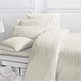 Комплект постельного белья Issimo Home MONTE хлопковый сатин-жаккард делюкс экрю