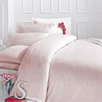 Комплект постельного белья Issimo Home MONTE хлопковый сатин-жаккард делюкс (розовый)