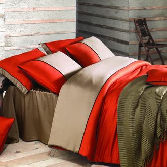 Комплект постельного белья Issimo Home ANNETTE хлопковый сатин-жаккард делюкс оранжевый