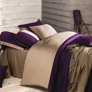Постельное белье Issimo Home ANNETTE хлопковый сатин-жаккард делюкс пурпурный евро