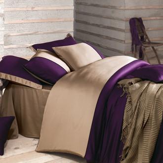 Комплект постельного белья Issimo Home ANNETTE хлопковый сатин-жаккард делюкс пурпурный