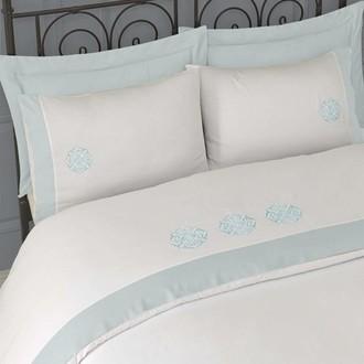Комплект постельного белья Issimo Home BLANCHE хлопковый сатин делюкс (ментол)