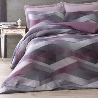 Комплект постельного белья Issimo Home SATIN HELIX хлопковый сатин делюкс пурпурный