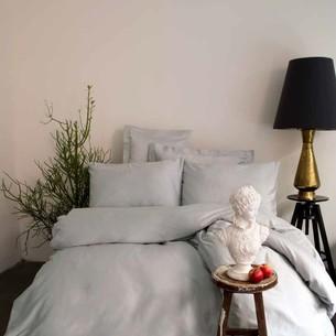 Постельное белье Issimo Home SIMPLY SATIN хлопковый сатин делюкс серый 1,5 спальный