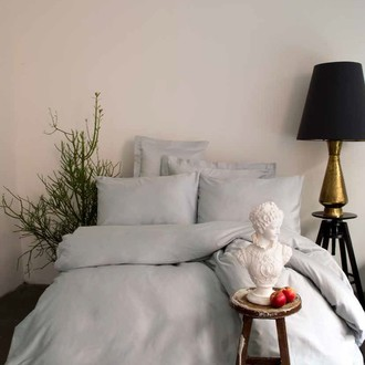 Комплект постельного белья Issimo Home SIMPLY SATIN хлопковый сатин делюкс серый
