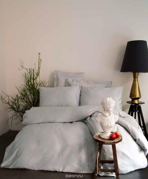 Комплект постельного белья Issimo Home SIMPLY SATIN хлопковый сатин делюкс (серый) семейный, фото, фотография