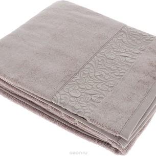 Полотенце для ванной Issimo Home VALENCIA бамбуково-хлопковая махра бежевый 50х90
