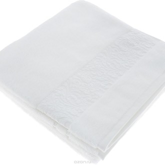 Полотенце для ванной Issimo Home VALENCIA бамбуково-хлопковая махра белый