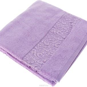 Полотенце для ванной Issimo Home VALENCIA бамбуково-хлопковая махра аметист 50х90