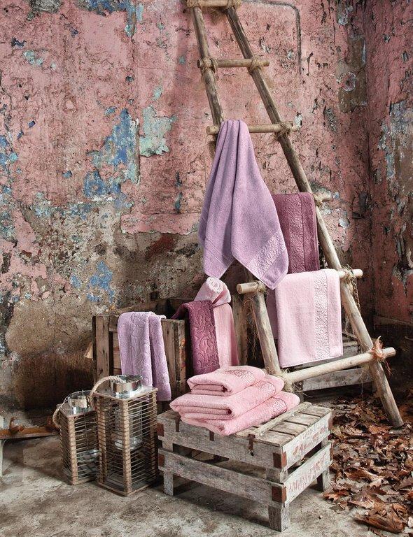 Полотенце для ванной Issimo Home VALENCIA бамбуково-хлопковая махра аметист 50*90, фото, фотография