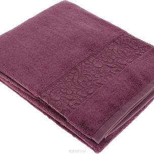 Полотенце для ванной Issimo Home VALENCIA бамбуково-хлопковая махра роза 50х90