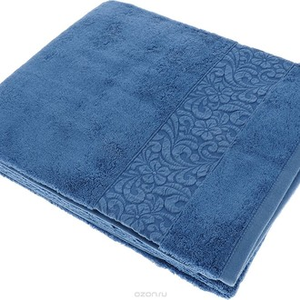 Полотенце для ванной Issimo Home VALENCIA бамбуково-хлопковая махра (индиго)