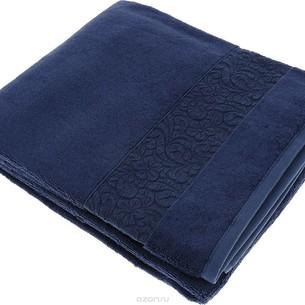 Полотенце для ванной Issimo Home VALENCIA бамбуково-хлопковая махра тёмно-синий 50х90