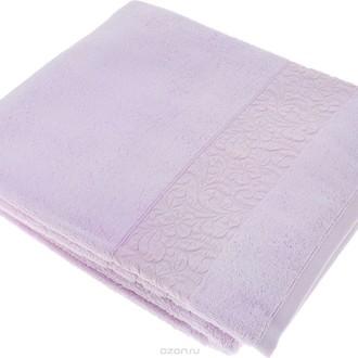 Полотенце для ванной Issimo Home VALENCIA бамбуково-хлопковая махра лиловый 90*150