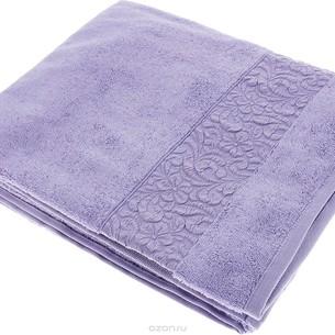 Полотенце для ванной Issimo Home VALENCIA бамбуково-хлопковая махра фиолетовый 50х90