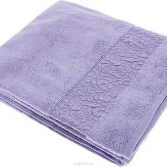 Полотенце для ванной Issimo Home VALENCIA бамбуково-хлопковая махра (фиолетовый)