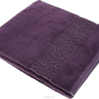 Полотенце для ванной Issimo Home VALENCIA бамбуково-хлопковая махра (пурпурный)