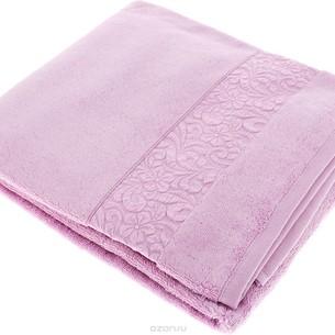 Полотенце для ванной Issimo Home VALENCIA бамбуково-хлопковая махра светло-пурпурный 50х90