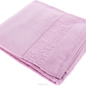 Полотенце для ванной Issimo Home VALENCIA бамбуково-хлопковая махра (светло-пурпурный)