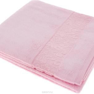 Полотенце для ванной Issimo Home VALENCIA бамбуково-хлопковая махра розовый 50х90