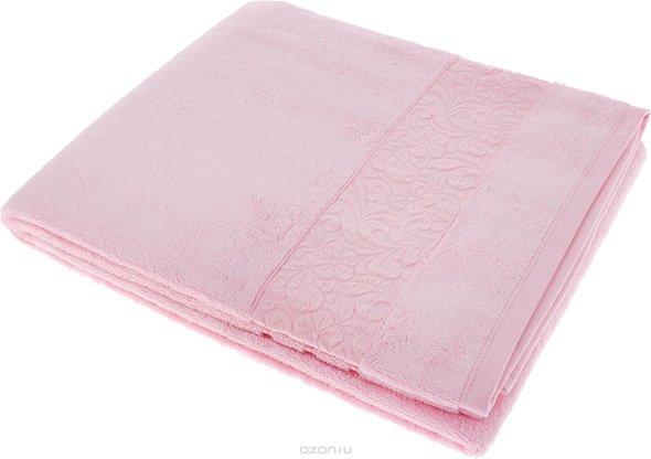 Полотенце для ванной Issimo Home VALENCIA бамбуково-хлопковая махра (розовый) 90*150, фото, фотография