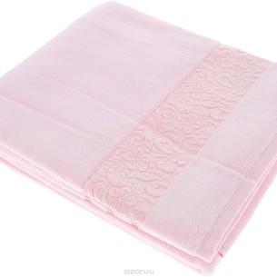 Полотенце для ванной Issimo Home VALENCIA бамбуково-хлопковая махра светло-розовый 30х50