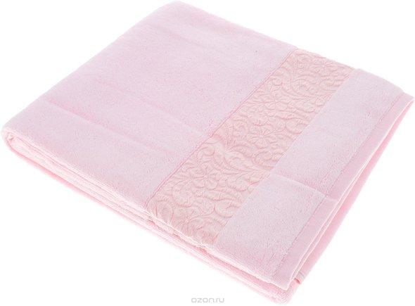 Полотенце для ванной Issimo Home VALENCIA бамбуково-хлопковая махра (светло-розовый) 90*150, фото, фотография