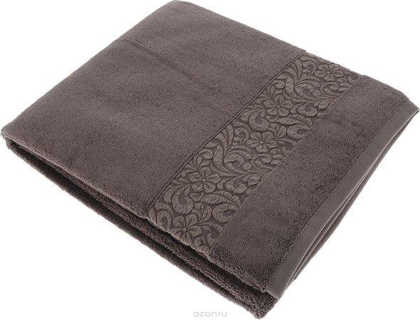 Полотенце для ванной Issimo Home VALENCIA бамбуково-хлопковая махра (норка) 90*150, фото, фотография
